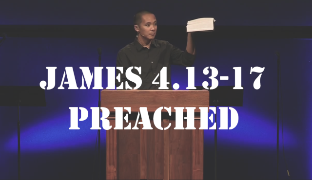 James 4.13-17 preached pic