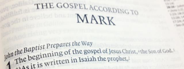The Gospel According to Mark sermon graphic
